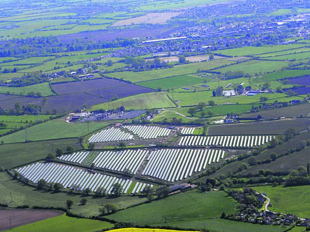 This Is Wiltshire: John Phillips' view of the solar panels at Broughton Gifford