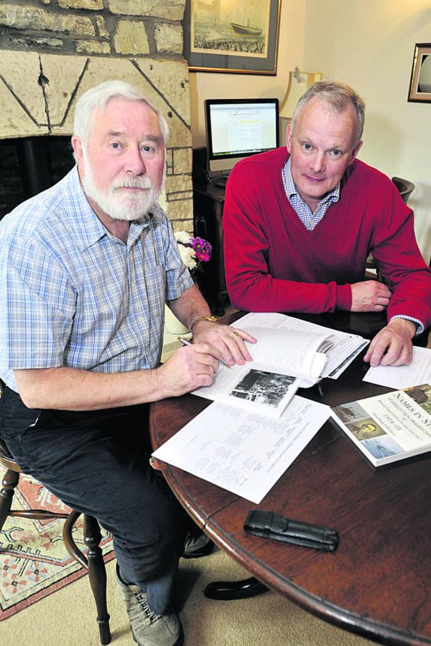 This Is Wiltshire: South Wraxall resident David Wyper, left, with parish