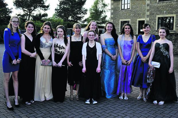 This Is Wiltshire: Girls looking gorgeous for the St Augustine's Catholic College Year 11 Prom