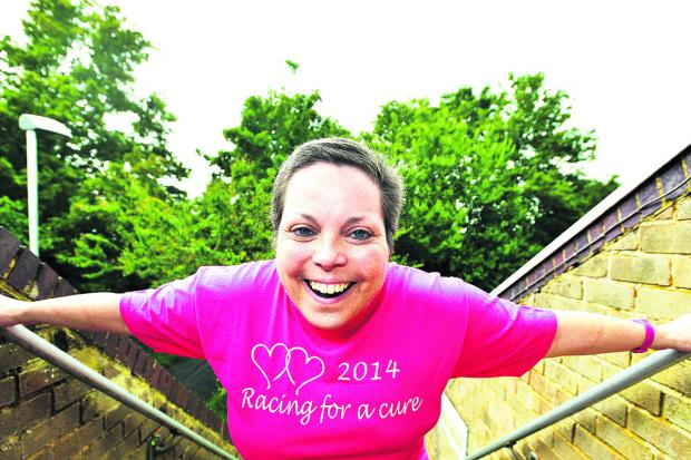 This Is Wiltshire: Vanessa Denman is taking part in cancer Reesearch UK's Race for Life this weekend