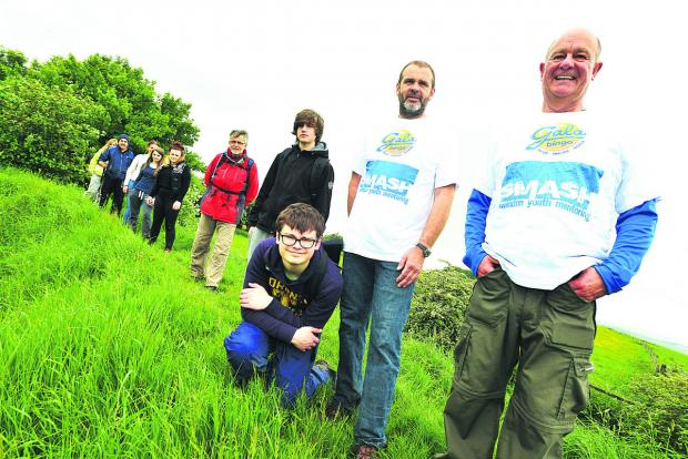 This Is Wiltshire: Youngsters take on 85-mile charity trek