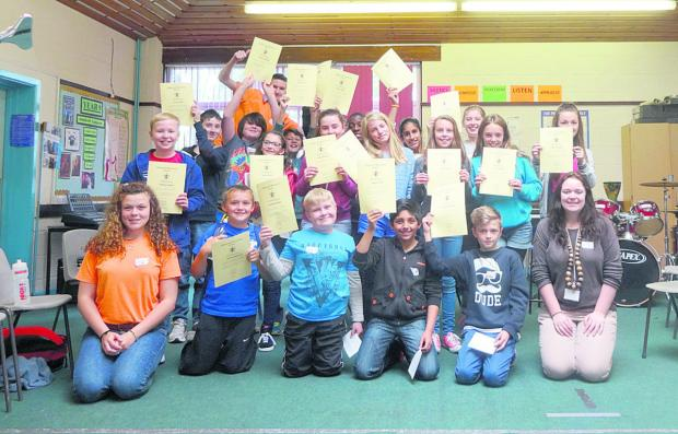This Is Wiltshire: The year six participants with their certificates for attending the two-day transition session
