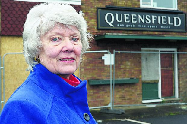 This Is Wiltshire: Another application has been made to demolish the Queensfield pub and replace it with houses  and Brenda Archer wants to hear what residents would like to see at the site