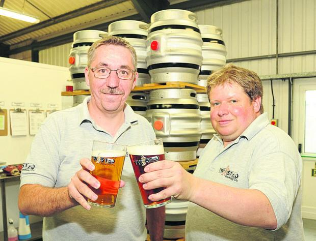 This Is Wiltshire: Andrew Murray and brewer Jon Piling at the new Twisted Brewery Co in Westbury