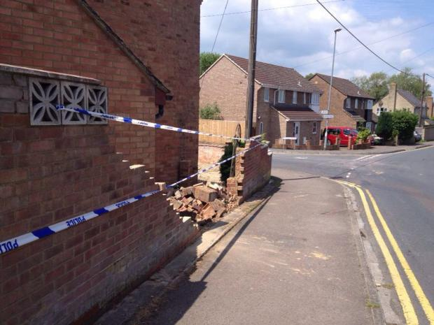 This Is Wiltshire: The crash scene in Cricklade