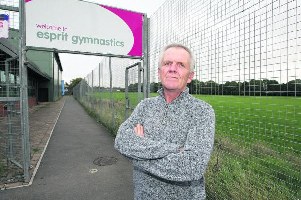 This Is Wiltshire: Mark Hows, the chairman of Esprit Gymnastics Club, who is concerned about the effect the proposed development of the former Headlands School site could have on the club