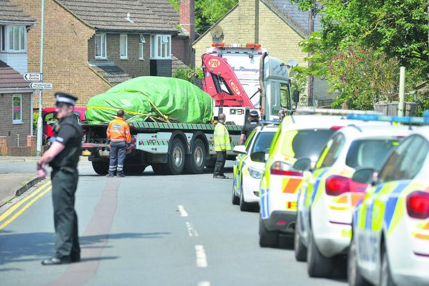 This Is Wiltshire: n The scene of the fatal accident in West Mill Lane in Cricklade