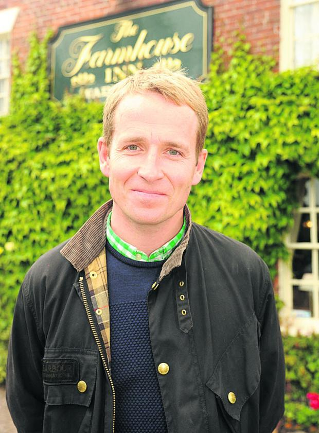 This Is Wiltshire: Jonnie Irwin, host of Channel Four's A Place in the Sun: Home or Away, outside the Farmhouse Inn, Southwick near Trowbridge