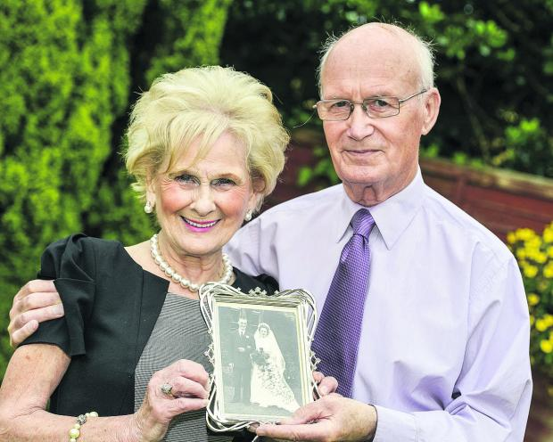 This Is Wiltshire: Sybil and Bill Holland who celebrated their diamond wedding anniversary on May 29