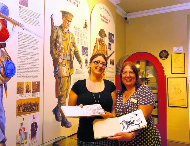 This Is Wiltshire: Lucy Bousie and Melissa Barnett with the books signed by s