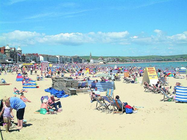 This Is Wiltshire: Weymouth beach, a destination on the Great Western line