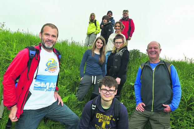 This Is Wiltshire: Young people from SMASH walking the Ridgeway with their mentors