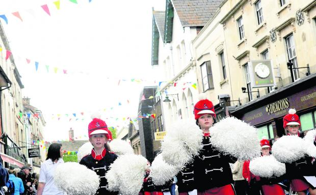 This Is Wiltshire: The Britannia Majorettes take part in last year's Old Town Festival parade