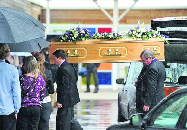 This Is Wiltshire: Tracey Toop's funeral at Kingsdown Crematorium