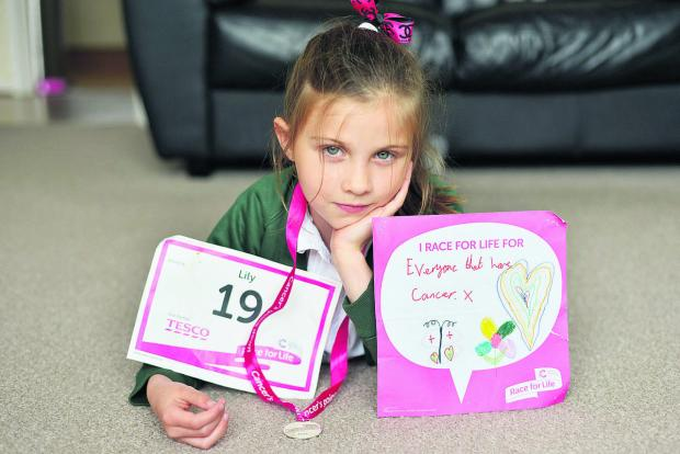 This Is Wiltshire: Lily Mulcock, who was disappointed not to be included in the Adver's Race For Life supplement