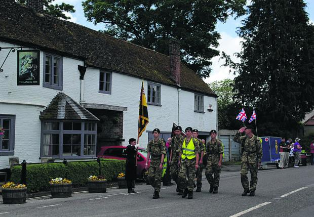 This Is Wiltshire: The Veterans Charity march, which started at Ilfracombe, Devon, passing through Wiltshire to its final destination, Bulford