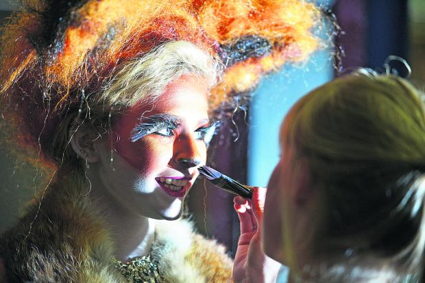 This Is Wiltshire: Foxy Maisie Gregory has her makeup carefully applied
