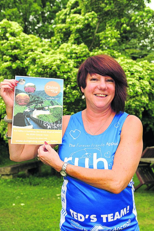 This Is Wiltshire: Sue Gilby will be trekking for six days over a section of the Great Wall of China