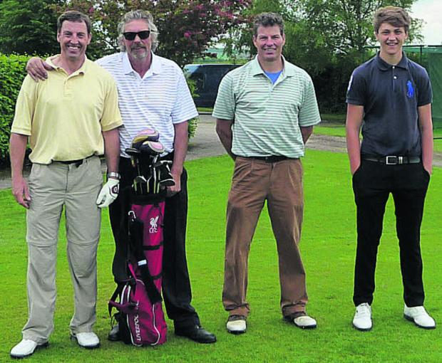 This Is Wiltshire: The winning team at the Bag4Sport Golf Day are (l-r): John Hawkins, Phil Ireson, John Bathe and Duncan Bathe