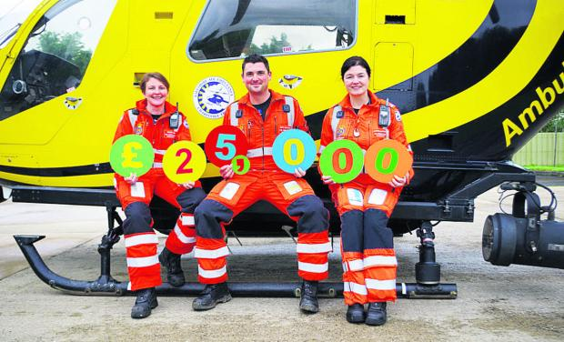 This Is Wiltshire: Paramedics Louise Cox, Ross Culligan and Jo Munday launch the Superdraw lottery