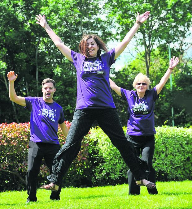 This Is Wiltshire: Mike Kennedy, Genevieve Arney and Julie Ellis prepare for the Starlight Walk