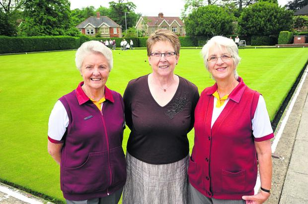 This Is Wiltshire: From left are club president Rosemary Bradbury, centre manager Betty Newman and captain Rosemary Keen