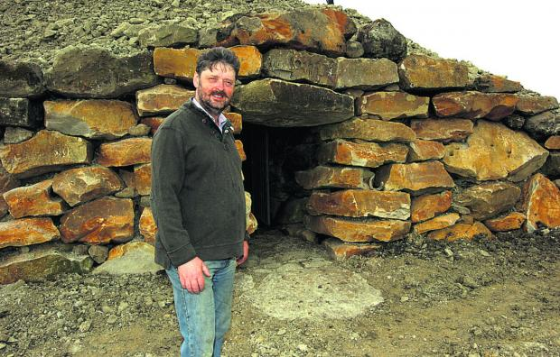 This Is Wiltshire: Tim Daw at his long barrow