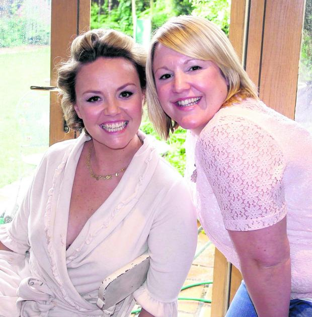 This Is Wiltshire: Stacey Johnson created a style fit for a star when she worked on the hair of Charlie Brooks of EastEnders