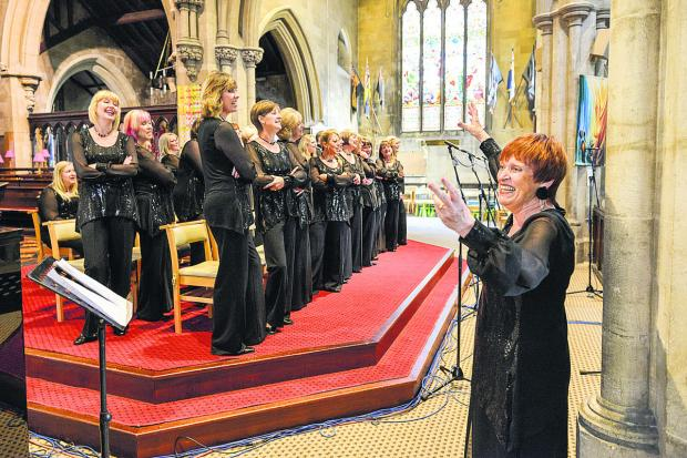 This Is Wiltshire: Sheila Harrod conducting the choir