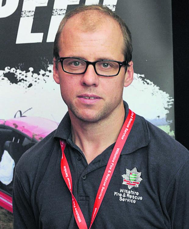 This Is Wiltshire: Ian Hopkins, road safety development manager at Wiltshire Fire & Rescue Service