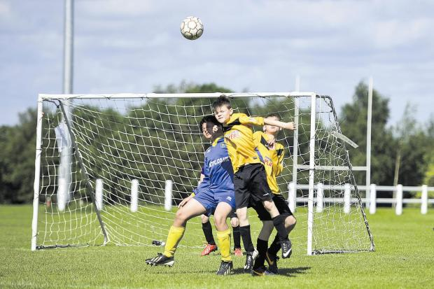 This Is Wiltshire: Action from the weekend's Wootton Bassett six-a-side tournament
