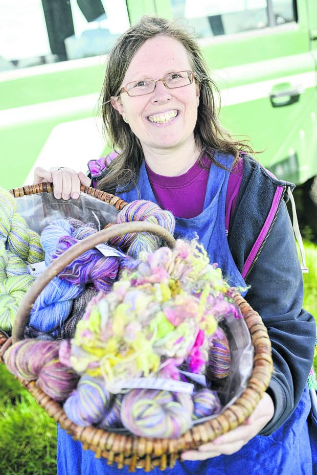 This Is Wiltshire: Emma Turner with wool spun from sheep on the farm