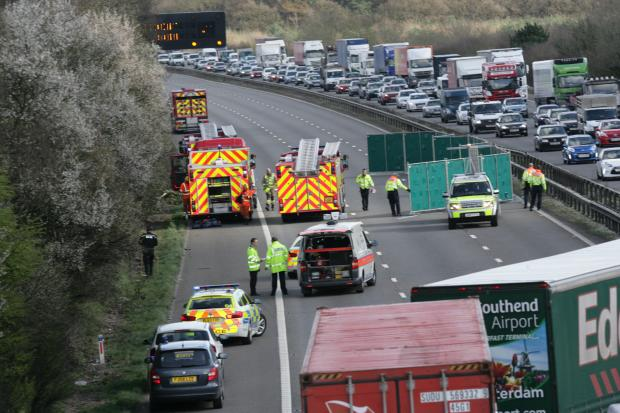 This Is Wiltshire: The crash scene on March 21