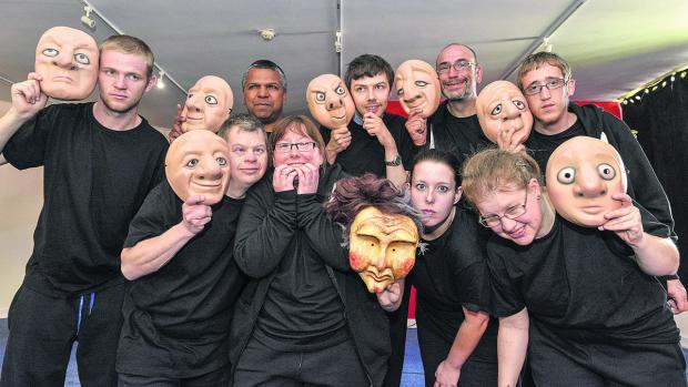 This Is Wiltshire: Partners Theatre Company, back, from left, Tom Roberts, Dan Eldridge, Robert Buckley, Joe Dickson, Luke Gray. Front, from left, Johnny Kilminster, Becky Philips, Becky Osbourne and Charlotte Arnel