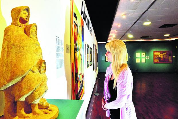 This Is Wiltshire: Leanne Curtis takes a look around the new About Face exhibition at Swindon art gallery