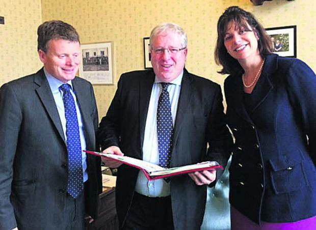 This Is Wiltshire: Richard Benyon, the MP for Newbury, Patrick McLoughlin, Secretary of State for Transport, and Devizes MP Claire Perry