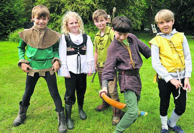 This Is Wiltshire: Children from Great Bedwyn School in costume for the drama challenge
