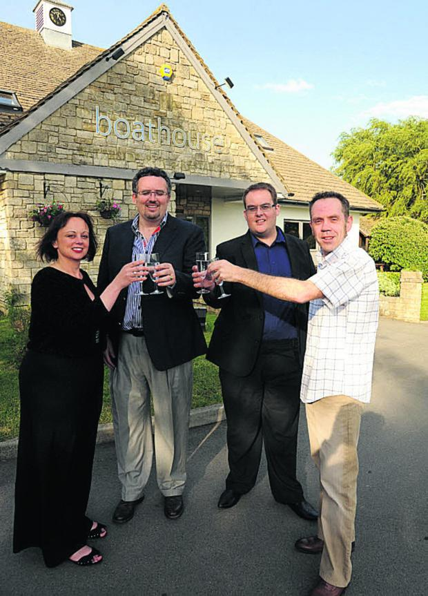 This Is Wiltshire: The Boathouse pub manager Jo Carroll, director Nick Dent, general manager Christopher John and executive chef Philip Carroll