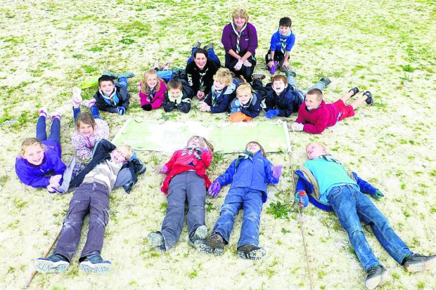 This Is Wiltshire: The 6th Devizes Scouts helped to clean up the Devizes White Horse during community week