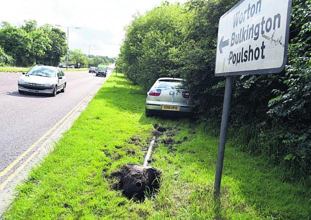 This Is Wiltshire: An appeal for witnesses to this morning's accident on the A361 at C
