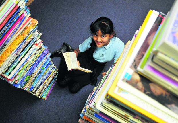 This Is Wiltshire: Shefali Fernandes, from Holy Rood  Junior School, who has won a national book competition