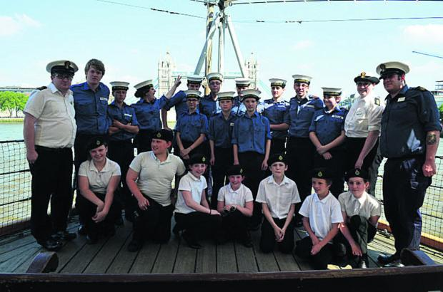 This Is Wiltshire: Trowbridge Sea Cadets aboard for tour of iconic D-Day vessel
