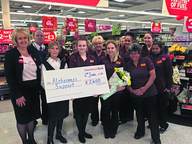 This Is Wiltshire: Sainsbury's staff hand over £3,600 t