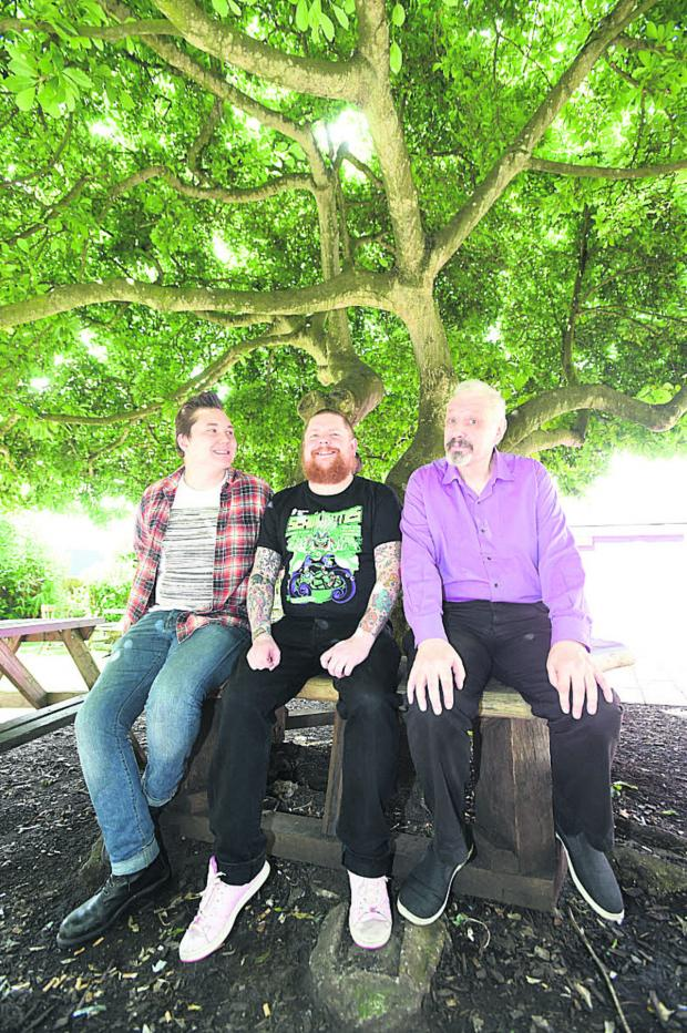 This Is Wiltshire: Stand-up Marc Burrows, organiser Wil Hodgson and Edinburgh Festival founder Peter Buckley Hill
