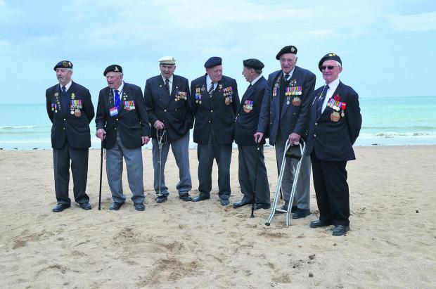 This Is Wiltshire: Veterans Wally Beall, of Atworth, Doug Lakey, of Warminster, Bernard Howell, of Mere, Bob Conway, of Trowbridge, George French, of Swindon, Gordon Smith, of Newbury, and Bert Williams, from Calne