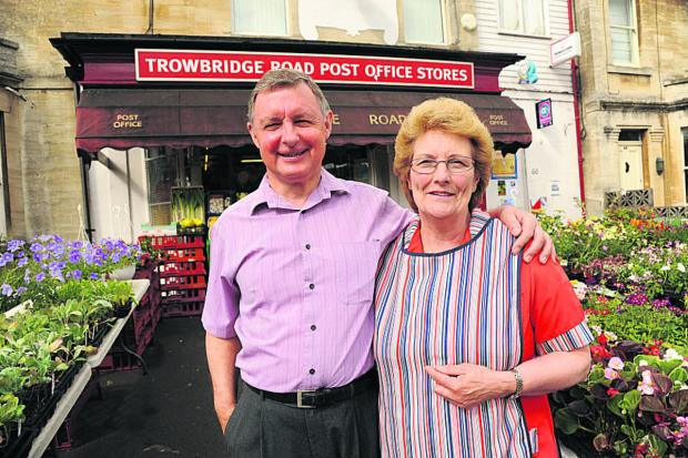 This Is Wiltshire: Bill and Jill Sherman are retiring after 20 years of running the Post Office at Trowbridge Road, Bradford on Avon