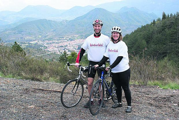 This Is Wiltshire: Lorna Blakeley and her husband Lawrence are part of a team set to take on a charity  cyclin