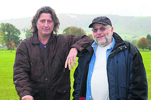 This Is Wiltshire: Steve Knightley and John Alderslade at the festival site