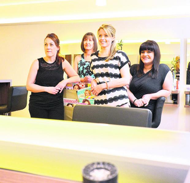 This Is Wiltshire: Members of the Salon 52 team – Sarah Keep, Helen Kirby, Kelly Goodheart and Abby Randall