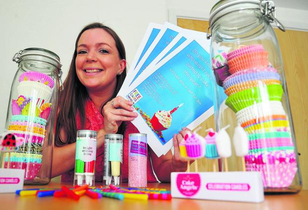 This Is Wiltshire: Laura Hogg, who has  has set up a local branch of the free Cakes For Kids charity which makes birthday cakes for families who might not have them otherwise